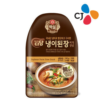 [CJ] Beksul Dadam Soybean Paste Stew Stock / 백설 다담 냉이 된장 (140g,3-4 인분)