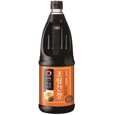 [Chungjungone] Naturally Brewed Soy Sauce for Stir-Fry/청정원 햇살담은 자연숙성 조림간장 (1.7L)
