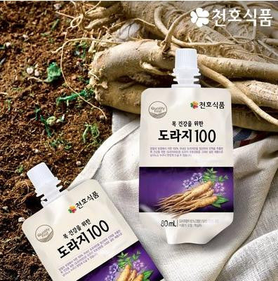 [Chunho food] Balloonflower Juice 100/ 도라지100  (80ML X 30PACK)