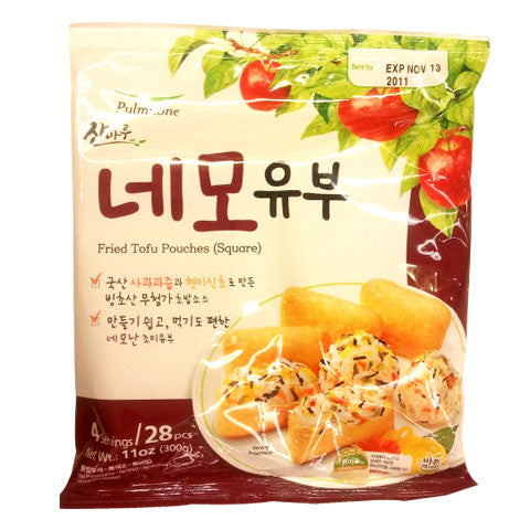 [Pulmuone] Fried Tofu Pouches (square)/풀무원 찬마루 네모유부 (11oz)