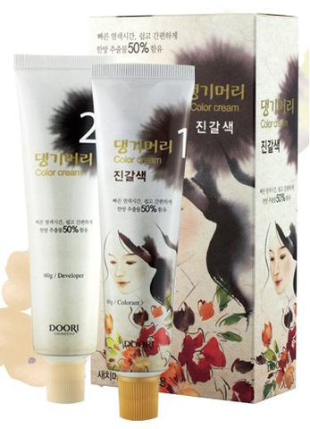 [Daeng Gi Meo Ri] Medicinal Herb Hair Color-Medium Brown/댕기머리 염색약-진갈색