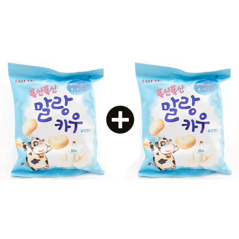 [Lotte]  Chewing Candy - Milk / 말랑카우-우유맛 (158g x 2Bag)