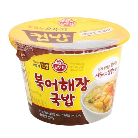 [Ottogi] Cooked Rice & Dried Pollack Soup /오뚜기 컵밥 북어해장 국밥(175g)