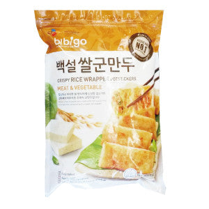 [CJ] Bibigo Crispy Rice Wrapper Dumplings/CJ 비비고 백설 쌀군만두 (794g)
