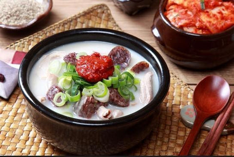[Ready to Eat] Korean Traditional Pork Sausage with Boiled Rice Served in Soup1 (1portion) /순대 국밥 (1인분)