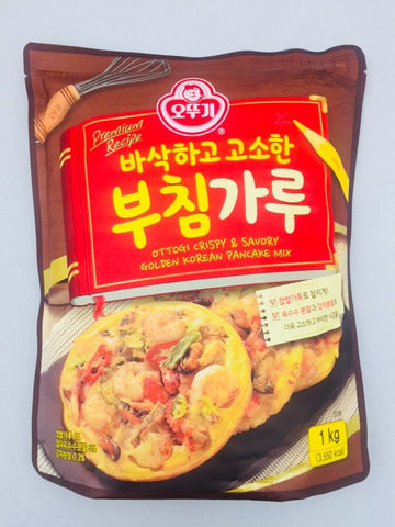 [Ottogi] CRISPY & SAVORY GOLDEN KOREAN PANCAKE MIX / 오뚜기 바삭하고 고소한 부침가루 1kg