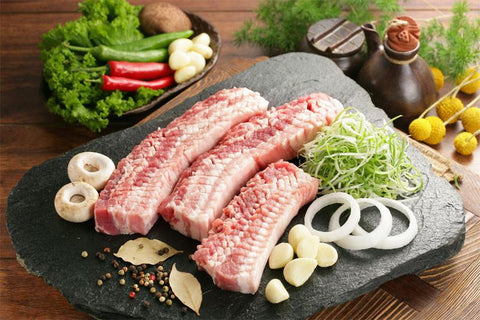 Comb-Cut Pork Belly Sliced/벌집 삼겹살 (2LB)