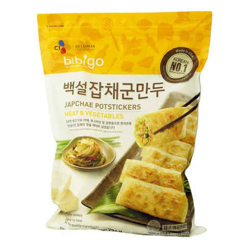 [CJ] Bibigo Beaksul Japchae Potstickers with Meat&Vegi/CJ 백설 잡채 군만두  (794g)
