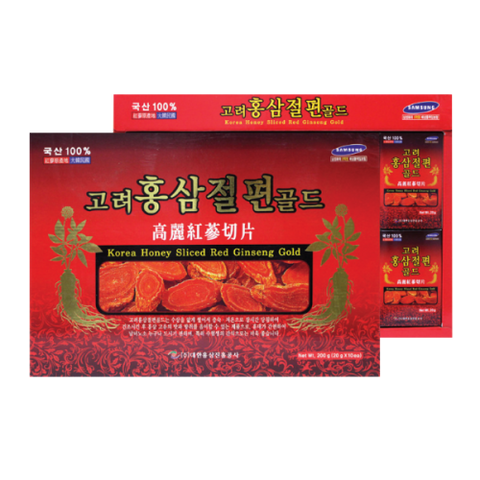 Korea Honey Sliced Ginseng Gold/고려 홍삼 절편 골드 200g (20g x 10ea)