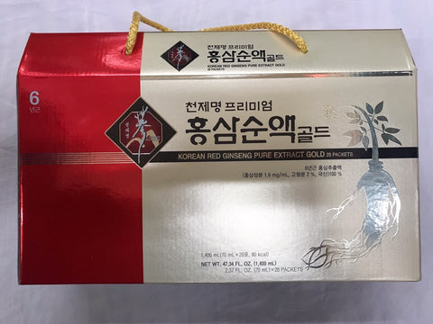 [CHUNJEMYUNG] KOREAN RED GINSENG PURE EXTRACT GOLD / 천제명 홍삼 순액 골드 70ml X 20pk