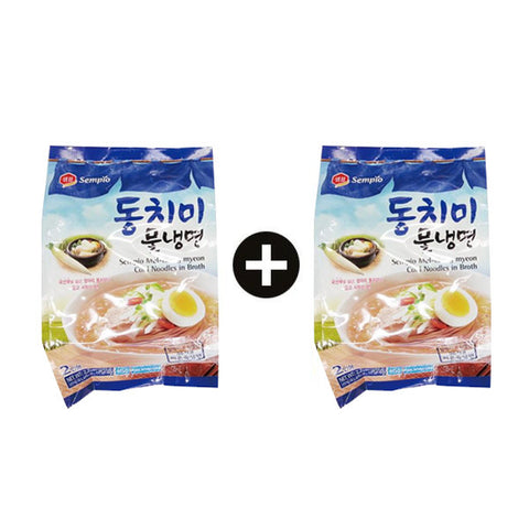 [Sempio] Cold Noodles w. Broth/샘표 동치미 물 냉면 (990g x 2bag)