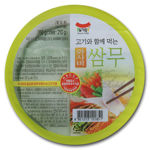 [Ilga] Pickled Radish Wraps (Wasabi)/일가집 와사비 쌈무 (350g)