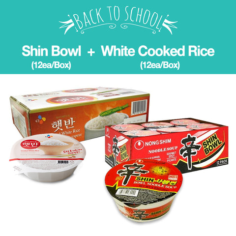 [Back to School] Shin Bowl  + Cooked White Rice/신사발면  1Box + 햇반 1Box