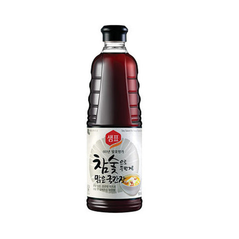 [Sempio] Naturally Brewed Soy Sauce Charcoal Filtered for Soup/샘표 참숯으로 두번거른 맑은 국간장 (930ml)