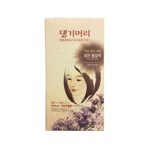 [Daeng Gi Meo Ri] Medicinal Herb Hair Color-Light Brown/댕기머리 염색약-밝은 황갈색