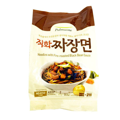 [Pulmuone] Noodles w. Fire-Roasted Black Bean Sauce/풀무원 생가득 직화짜장면 (2인분)