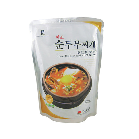 [Yijo] Uncurdled Bean Curdle Pot Stew/ 이조 순두부 찌게 (550g)