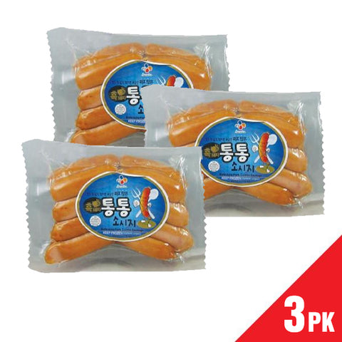 [ CJ ] Black Pork Sausage/CJ 통통 소시지 (8oz x 3pk)