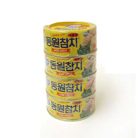 [Dongwon] F&B Light Standard Tuna/동원 라이트 스탠다드 참치 4개팩 (150g x 4) {Limit 2Pk /1 order)
