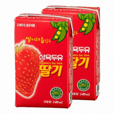 [Sahmyook] Strawberry Soymilk /삼육 삼육 두유 딸기맛(24pc/Box)