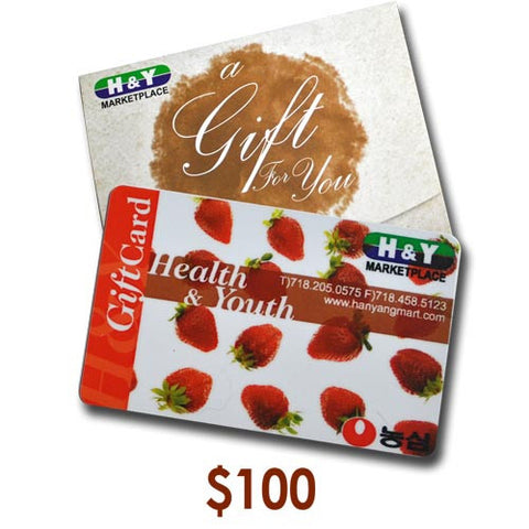 H&Y MARKETPLACE GIFT CARD $100