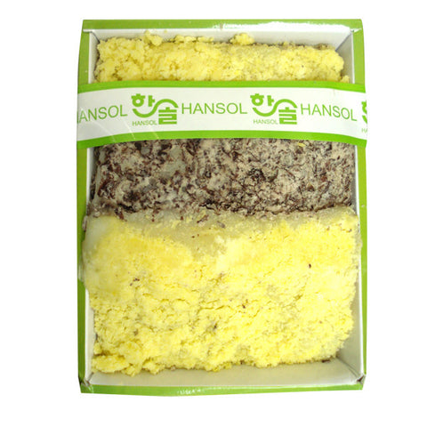 [Hansol] Rice Cakes w. Mung Bean & Red Bean/한솔 녹두 팥 시루떡 (0.7LB)