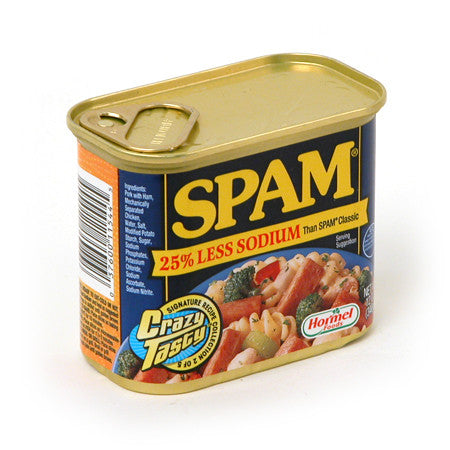 Spam -25%Less Sodium/스팸-25% Less Sodium (12 Oz/ 340g)