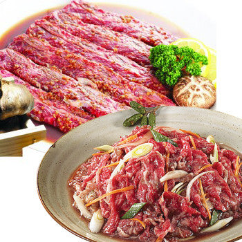 Set Seasoned Beef Slice 3lb +Seasoned LA Beef Short Rib 2lb/양념 소불고기 3lb + 양념 LA갈비 2lb  Set