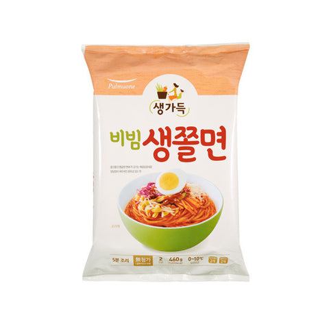 [Pulmuone] Spicy Chewing Noodle/풀무원 비빔 생쫄면 (460g)