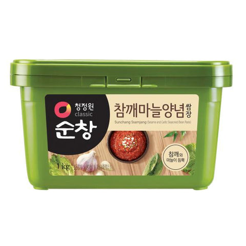 [Chungjungwon] Soonchang Ssamjang (Bean Paste)/청정원 참깨마늘 양념쌈장 (500g)
