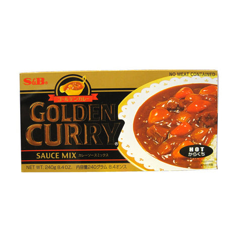 S&B Golden Curry  -Hot- 240g/S&B 골든카레 (매운맛) 240g