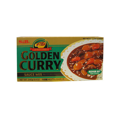 S&B Golden Curry -Medium Hot- 240g/S&B 골든카레 (중간매운맛) 240g