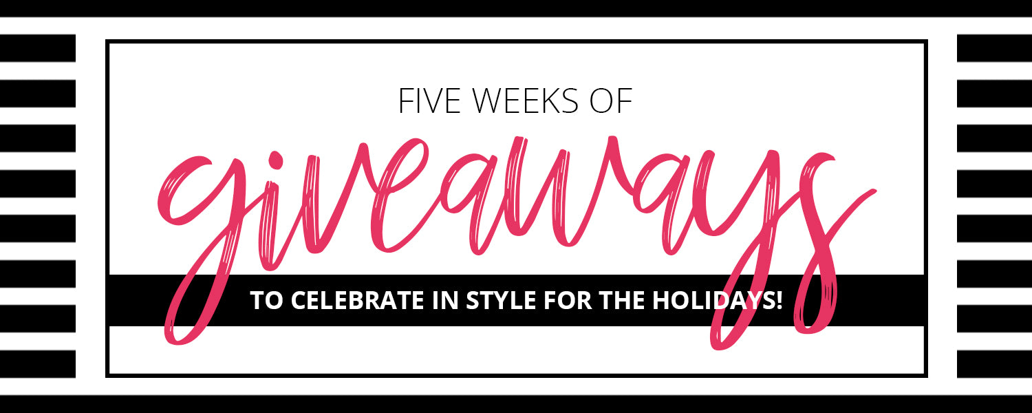 5 Weeks of Giveaways | Pop and Confetti
