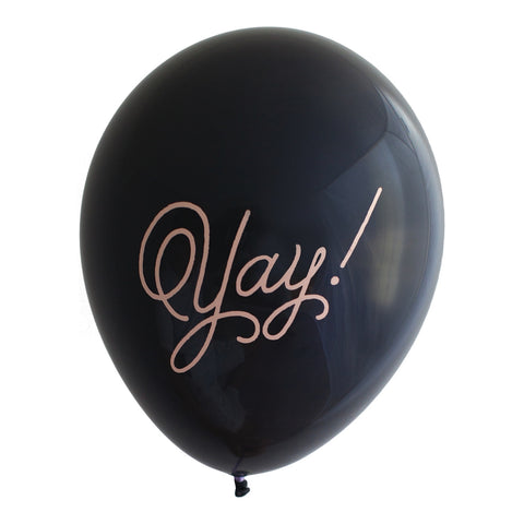 "Ballet ""Yay!"" on Black Party Balloons (Pkg of 3)"
