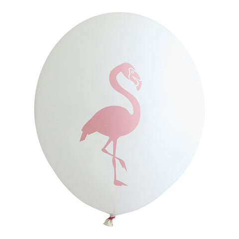 Guava Flamingo on White Party Balloons (Pkg of 3)