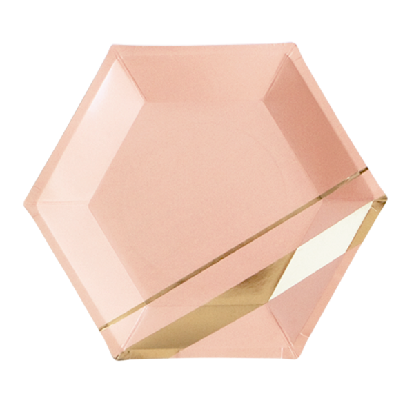 Blush - Goddess Hexagon Large Party Plates