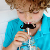 Moustache Decal Straws (Set of 12)