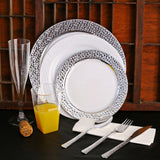 Silver Lining Plastic Plates (Party of 10)