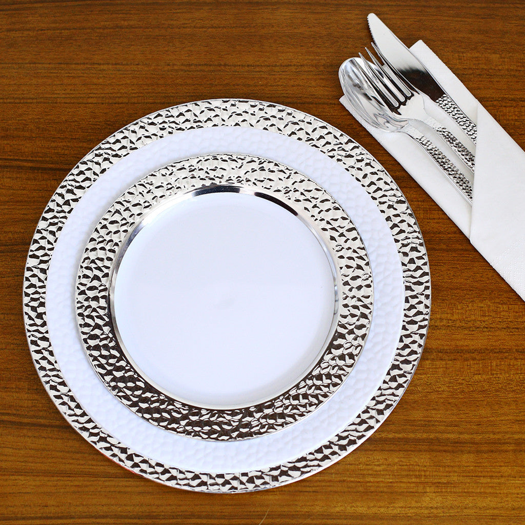 Elite Selection Pack Of 50 Dinner Disposable Plastic  sc 1 th 225 & Plastic Silver Plates - The Best Plastic 2018