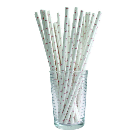 Flamingo Straws (Set of 25)