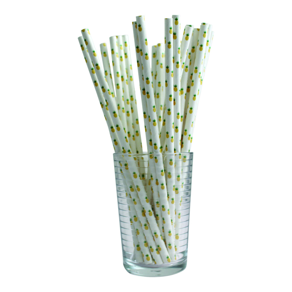 Pineapple Straws (Set of 25)
