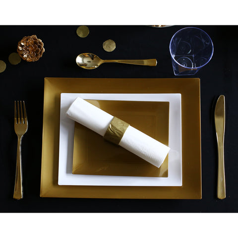 Golden Obsession Plastic Plates (Party of 12)