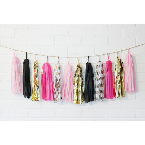 Dare to Pink Tassel Garland