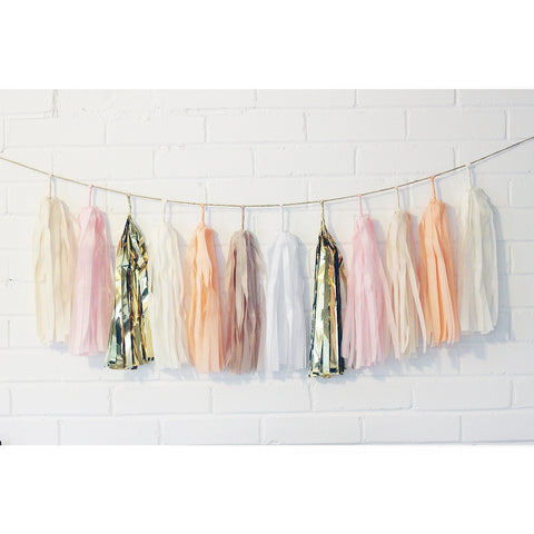 Golden Peach Tassel Garland