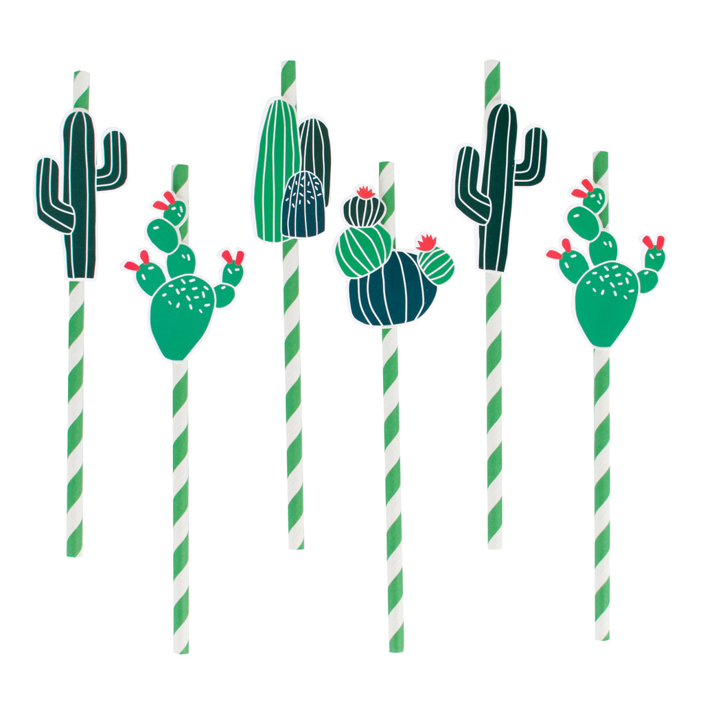 Cactus Paper Straws (Set of 12)