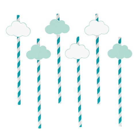 Over the Clouds Paper Straws (Set of 12)
