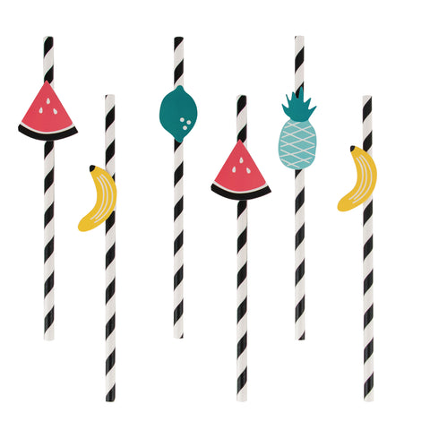 Fruity Fiesta Paper Straws (Set of 12)