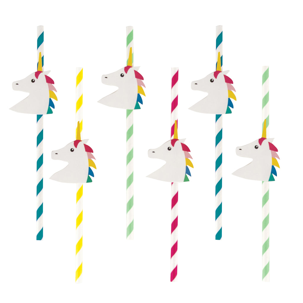 Unicorn Paper Straws (Set of 12)
