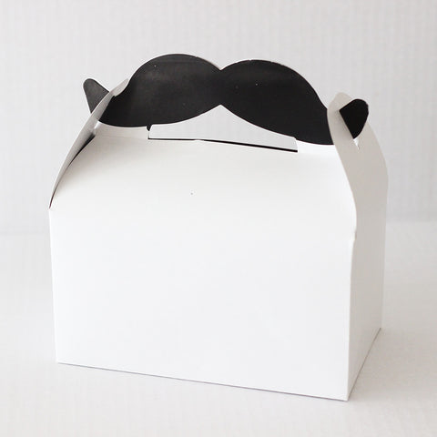 Moustache Party Favor Boxes with Handle