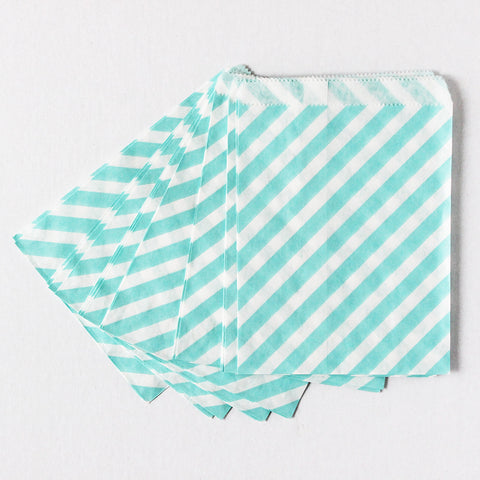 Blue Stripes Favor Bags (Set of 12)